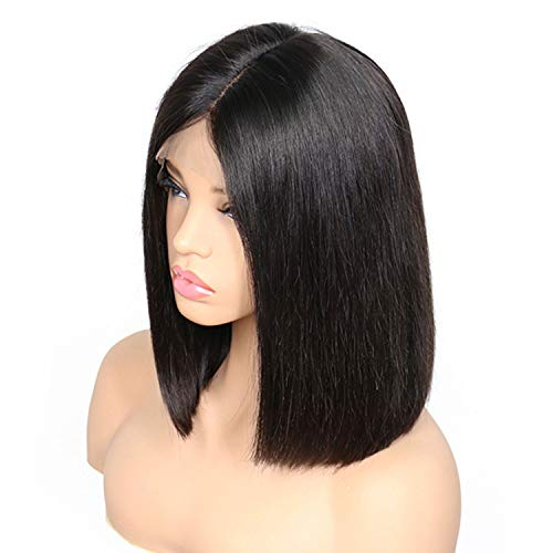 Straight Short Bob Wigs Lace Front Human Hair Wigs For Black Women Pre Plucked Brazilian Remy]()