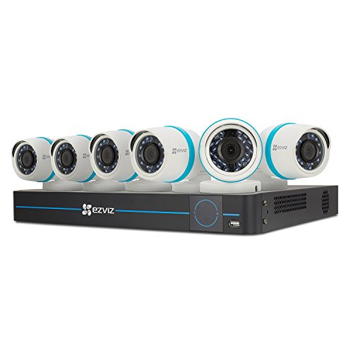 - EZVIZ BN-1846A2 Quad HD 4MP Outdoor IP PoE Surveillance System, 8 Channels + 6 Cameras