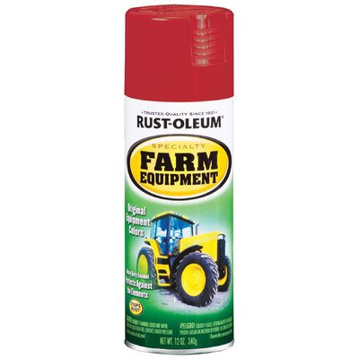 12 Oz International Red Farm Equipment Spray Paint [Set of 6]