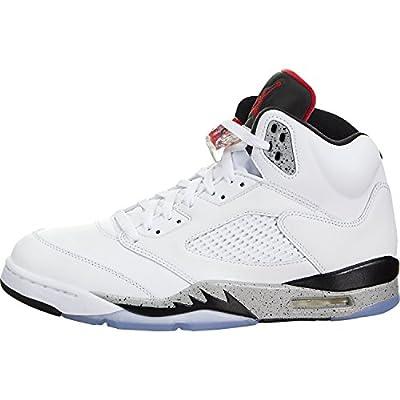 Nike Jordan 5 Retro Mens Red/Black Suede