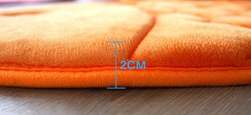 Hughapy Slow Rebound Memory Foam Children Bath Rug Christmas Fish Slip Resistant Coral Fleece Mat Doormat Carpet (Orange) by Hughapy (Image #2)