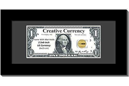 Creative Picture Frames [$4x9bk-b Black First Dollar Frame Black Matting, Easel Stand Wall Hanger Included (Business Frames Picture)