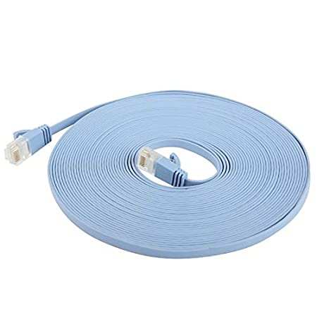 Computer Cables CAT6a Ultra-Thin Flat Ethernet Network LAN Cable SKU : 15m Length 2m Network Cables