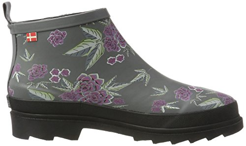 56 Antracite Flower Donna Multicolore Fiona Sanita Welly Gomma Stivali di CAgz4qpw