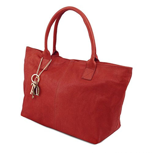 Tuscany Leather TL KeyLuck - Borsa donna in pelle - TL141207 (Nero) Rosso