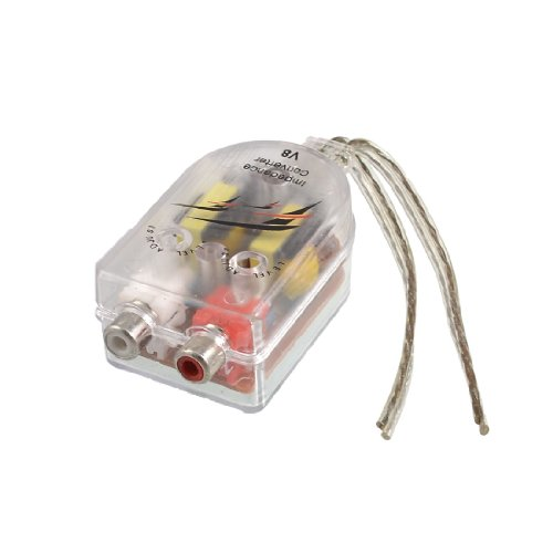uxcell® Auto Car High to Low Impedance Converter Adapter Speaker to RCA Line