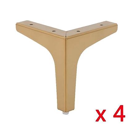 Furniture Legs Gold Metal X4 Stainless Steel Bathroom Kitchen Cabinet Feet Non Slip Wear Resistant Hardware Accessories