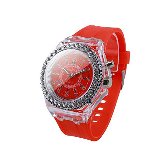 (Fine Mens Digital Sports Watch, Multi Function Quartz Movement LED Quartz Watch Water Resistant Electronic Sports Digital Smart Watch (Red))