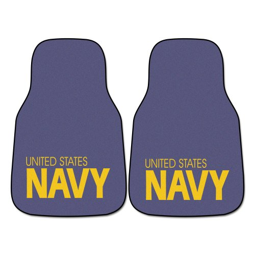 avy' Nylon Face Carpet Car Mat (Navy Car Mats)