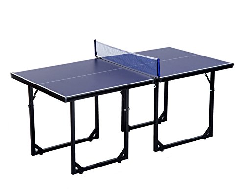 Mini Table Tennis Ping Pong Table Folding Portable Indoor Outdoor Game Sport by Eight24hours