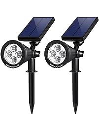 innogear upgraded solar lights 2in1 waterproof outdoor landscape lighting spotlight wall light - Solar Yard Lights