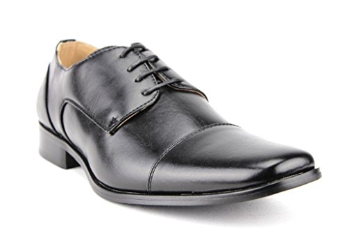 Majestic Mens 37686 Leather Lined Derby Cap Toe Oxfords Dress Shoes