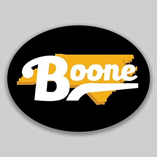 JB Print Boone North Carolina Oval Vinyl City Town College University Vinyl Decal Sticker Car Waterproof Car Decal Bumper Sticker 5