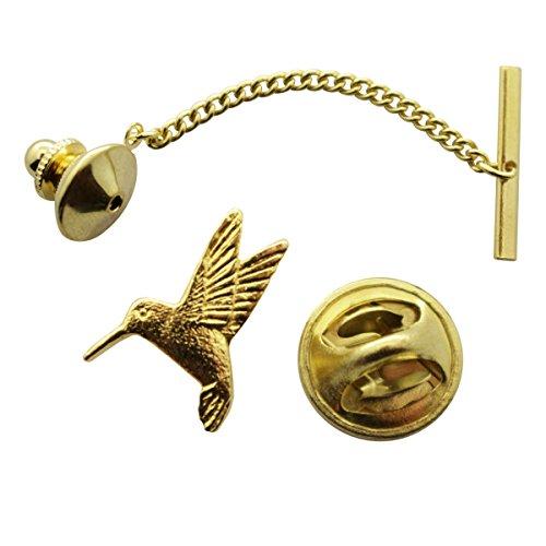 Hummingbird Tie Tack ~ 24K Gold ~ Tie Tack or Pin ~ Sarah's Treats & Treasures by Sarah's Treats & Treasures