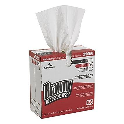 """Brawny industriales 29050/03 Blanca 4-Ply Scrim reforzado papel Limpiaparabrisas, 16.7 """""""