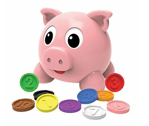 The Learning Journey: Pig E Bank & Cookie Jar Play Set - Teach your Kids How to Count Objects and Money - Learn How To Count Money