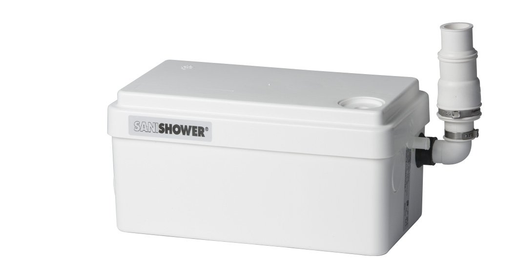 Saniflo 010 SANISHOWER Light Duty Gray Water Pump, White   Portable Power Water  Pumps   Amazon.com