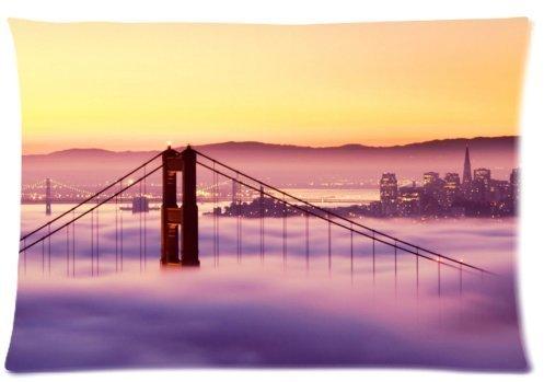 Standard-Store Custom Rectangle Amazing San Francisco Golden Gate Bridge Pillow Cases Covers Standard Size 20