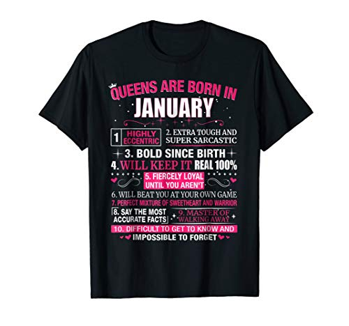 Queens are Born In January T-Shirt ()