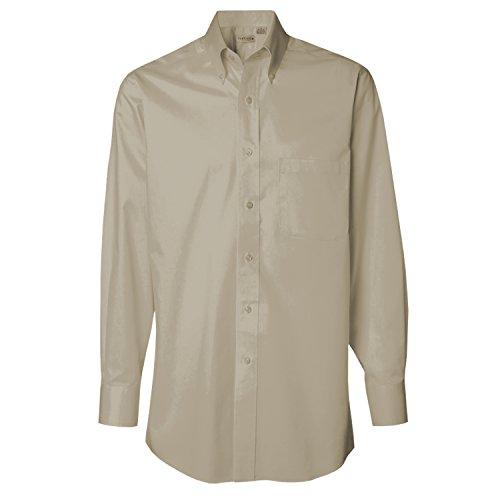 LogoUp Men's Van Heusen Long Sleeve Dress Twill - X Large - Sandstone (Sandstone Shirt Twill)