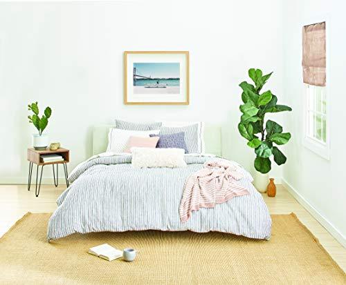Splendid Home Laguna Stripe Comforter Set, King, Navy/Ivory (Laguna Stripe)