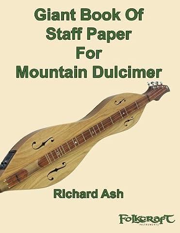 Giant Book Of Staff Paper For Mountain Dulcimer - Dulcimer Book