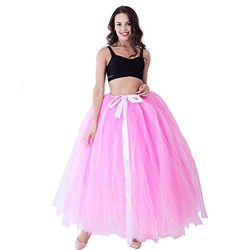 [Adult Puffy Long Tutu Tulle Skirt 100cm Floor Length Women Wedding Skirts] (Bride Running Costume)