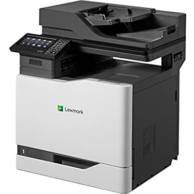 "Lexmark 42KT110 CX820de Fax/Copier/Printer/Scanner with 7"" Display, Black/gray"