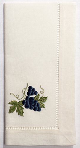 Henry Handwork Grapes Blue Dinner Napkin, Set of 4