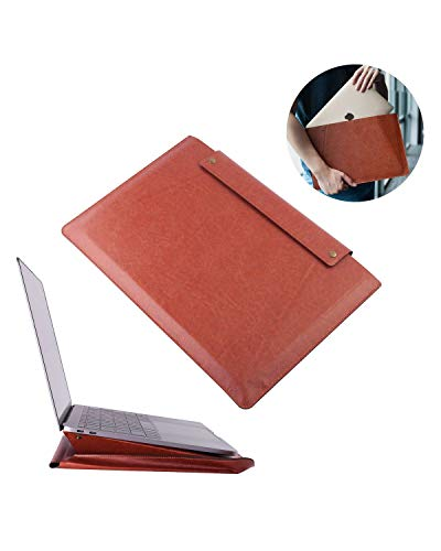 Insten 13.3 Inch Laptop Tablet Sleeve PU Leather Case Pouch Carrying Bag with Stand Function Compatible with iPad Pro 3 2018 Pro 2 2017 11 12.9 Pro2 10.5 9.7 New MacBook Pro Air Surface Go Pro 1