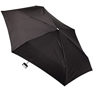 Totes Lightweight Manual Compact Umbrella - Black