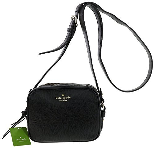 Kate Spade New York Mulberry Street Pyper Pebbled Leather Crossbody Shoulder Bag (Black) by Kate Spade New York
