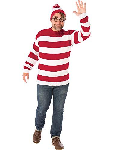 Rubie's Costume Co Unisex-Adults Where's Waldo Deluxe Plus Costume ()