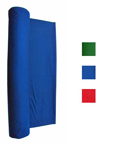 Worsted Fast Speed Pool Table - Billiard Cloth - Felt For 8' Pool Table Choose English Green, Blue, Black, or Red (Blue)