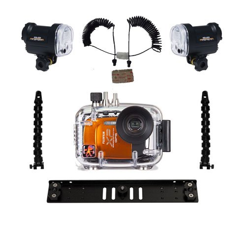 Fuji XP30 XP50 Underwater Camera Housing 6251.03 & Dual Sea & Sea YS-01 Strobe