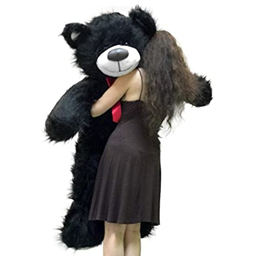 Big Plush 5 Foot American Made Giant Black Teddy Bear 60 Inch Soft Made in USA