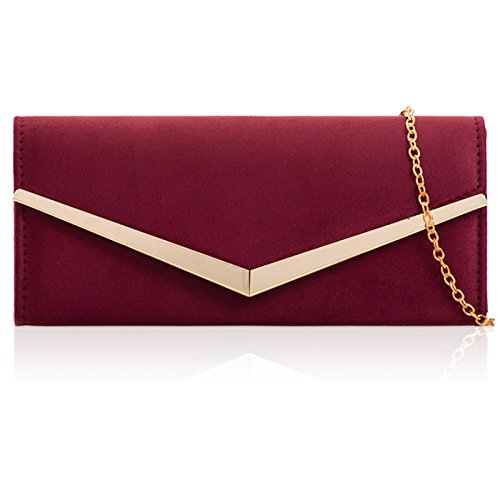 Xardi London, Borsetta da polso donna Burgundy