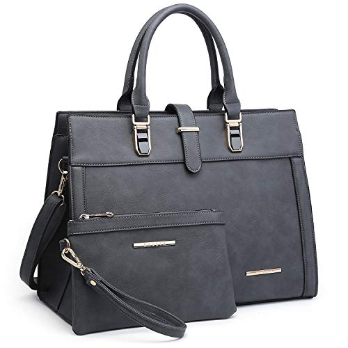- Women's Purse Handbag Shoulder Bag Designer Tote Satchel Hobo Bag Briefcase Work Bag for Ladies (8000 2pcs- Grey)