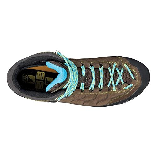 SALEWA Mountain Trainer Mid Gore-Tex, Scarpe da Arrampicata Donna Marrone (Tarmac/Swing Green 0620)