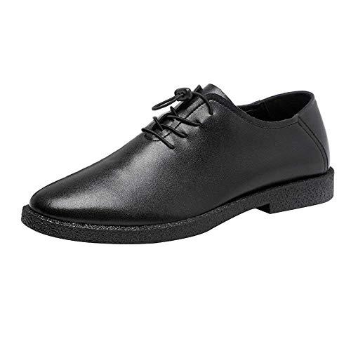 con Marrone Dimensione Lace uomo foderato Colorato scarpe Breathe Eu 44 per Nero Colore Oxfords pelle Slipper in tacco 2018 Oudan Up Casual alto Taglia vera 40 UwAq7UEx