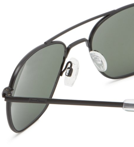 Square Sunglasses Black 55 AF52614 Randolph Engineering Aviator green TqZxT57