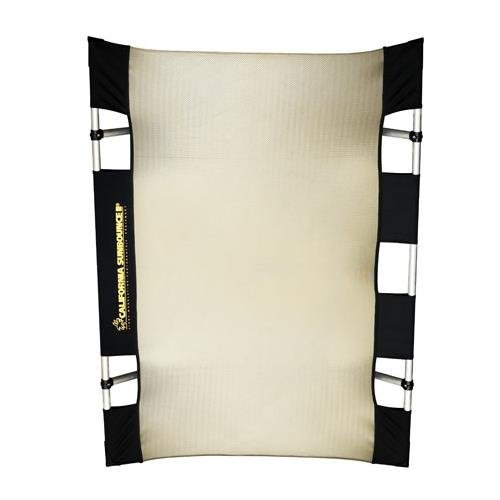 California Sunbounce Mini Kit (3 x 4 Feet) Kit - Reflector Panel Kit with Frame and Carry Bag (Zebra/White) by California Sunbounce