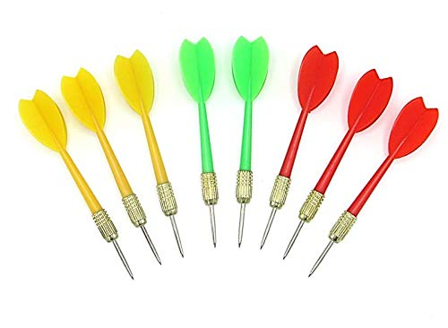 Plastic Darts with Metal Tip | Brass Darts | Carnival Balloon Darts | Pack of 36