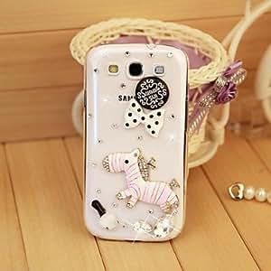 WQQ Teléfono Móvil Samsung - Cobertor Posterior/Carcasa Cubierta de Joyas - Diseño Especial/Apariencia de Diamante - para Samsung S3 I9300 ( Blanco ,