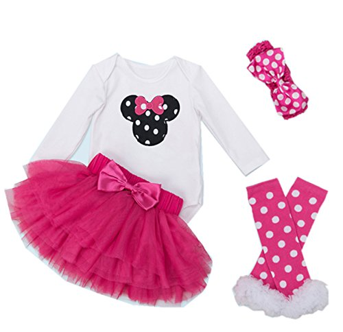 WINMI Baby Girls' 1st Birthday Tutu Outfit Newborn Party Dress (L for 9-12 Months, Black Mouse)