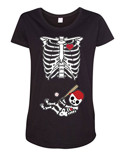 Baby Skeleton Arizona Baseball Maternity DT T-Shirt Tee (XX-Large, Black) Arizona Ladies Player Series