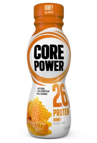 Core Power Natural High-Protein Milk Shake, Honey, 11.5-Ounce Bottles (Pack of 12)