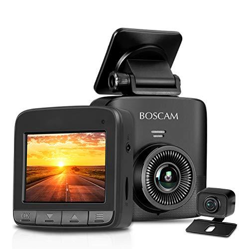 Dual Dash Cam, 1520P Dash Cam, 2.7K FHD Front Camera AHD Rear Camera, Car Camera Recorder BOSCAM S1