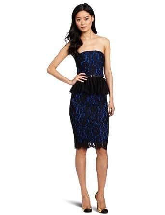Robert Rodriguez Women's Strapless Lace Dress, Cobalt, 4