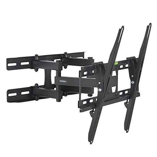 "VonHaus 05/060 Double Arm Articulating Cantilever TV Bracket Wall Mount with Tilt- for 23""-56"" LCD LED Plasma Flat Panels - Heavy Gage Reinforced Steel - Strong 100lbs Weight Capacity primary"